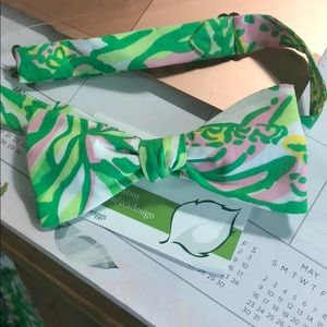 Lilly Pulitzer Custom Bow tie seeing pink elephant